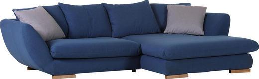 Ecksofa Flachgewebe Rückenkissen, Zierkissen - Blau/Buchefarben, Design, Holz/Textil (281/180cm) - Carryhome