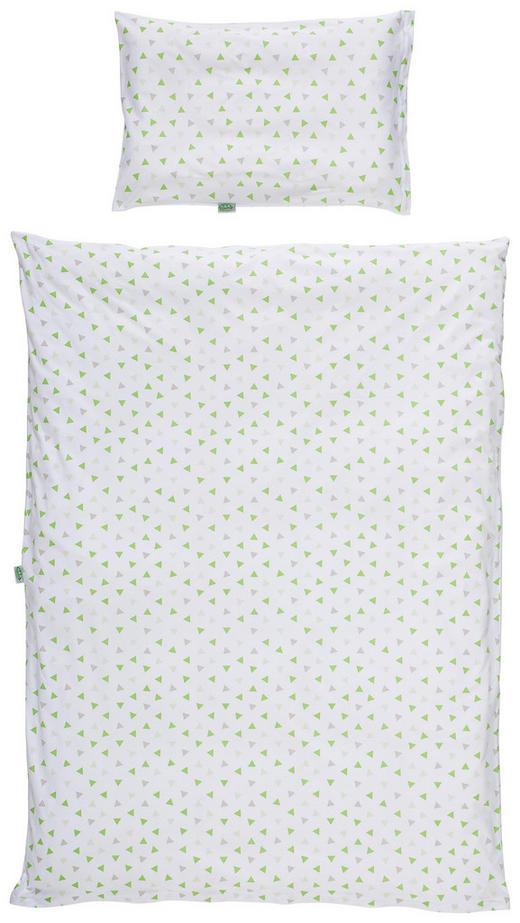 BABYBETTWÄSCHE - Limette/Weiß, Basics, Textil (100/135cm) - Odenwälder