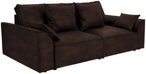 Bigsofa John B: 270 cm - Dunkelbraun/Schwarz, KONVENTIONELL, Textil (270/87/112cm) - James Wood