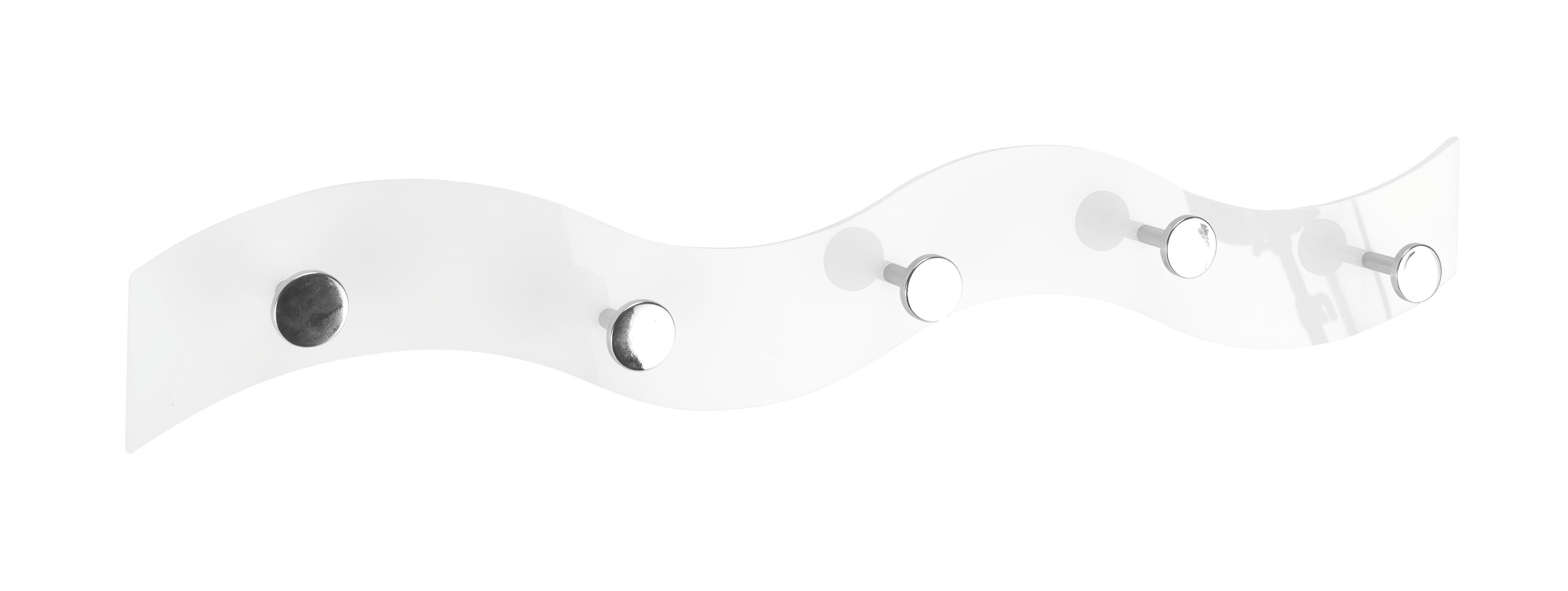 VJEŠALICA - bijela, Design, plastika (57/6/4cm)