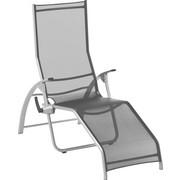 GARTENLIEGE - Silberfarben/Schwarz, Design, Textil/Metall (67/42/176cm) - KETTLER HKS
