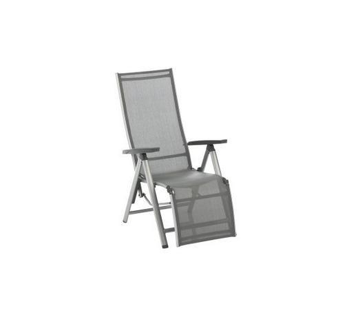 GARTEN-RELAXSESSEL 81/64/116 cm - Anthrazit/Silberfarben, Design, Textil/Metall (81/64/116cm) - Kettler HKS