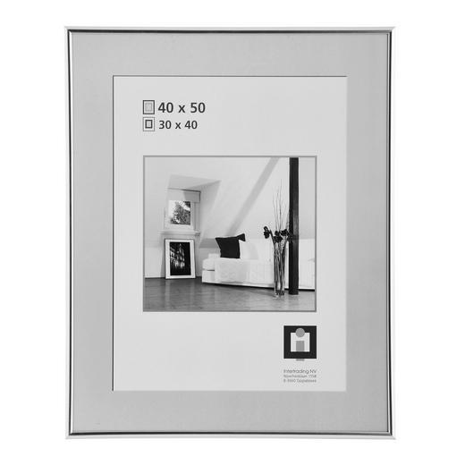 BILDERRAHMEN  Silberfarben - Silberfarben, Basics, Glas/Kunststoff (40/50cm)