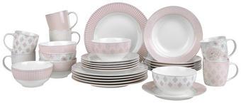 KOMBI SERVIS - roza/bijela, Trend, keramika - Landscape