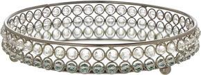 BRICKA - silver, Trend, metall/glas (21/5cm) - Ambia Home