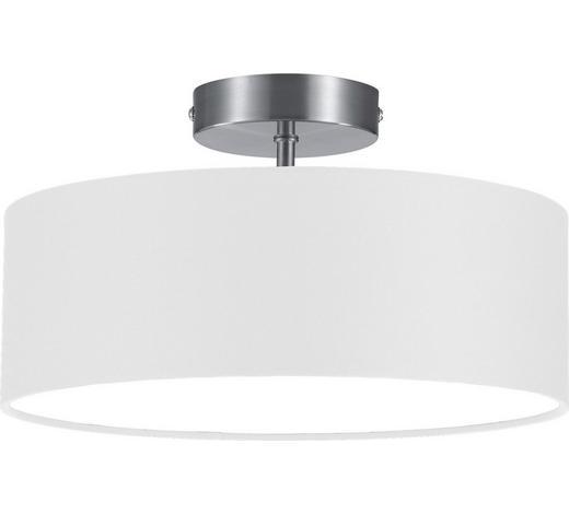 DECKENLEUCHTE - Weiß/Nickelfarben, Design, Textil/Metall (30/16cm)