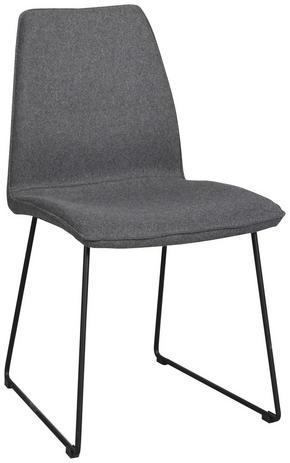 STOL - mörkgrå/svart, Modern, metall/textil (47/88/55cm) - Rowico