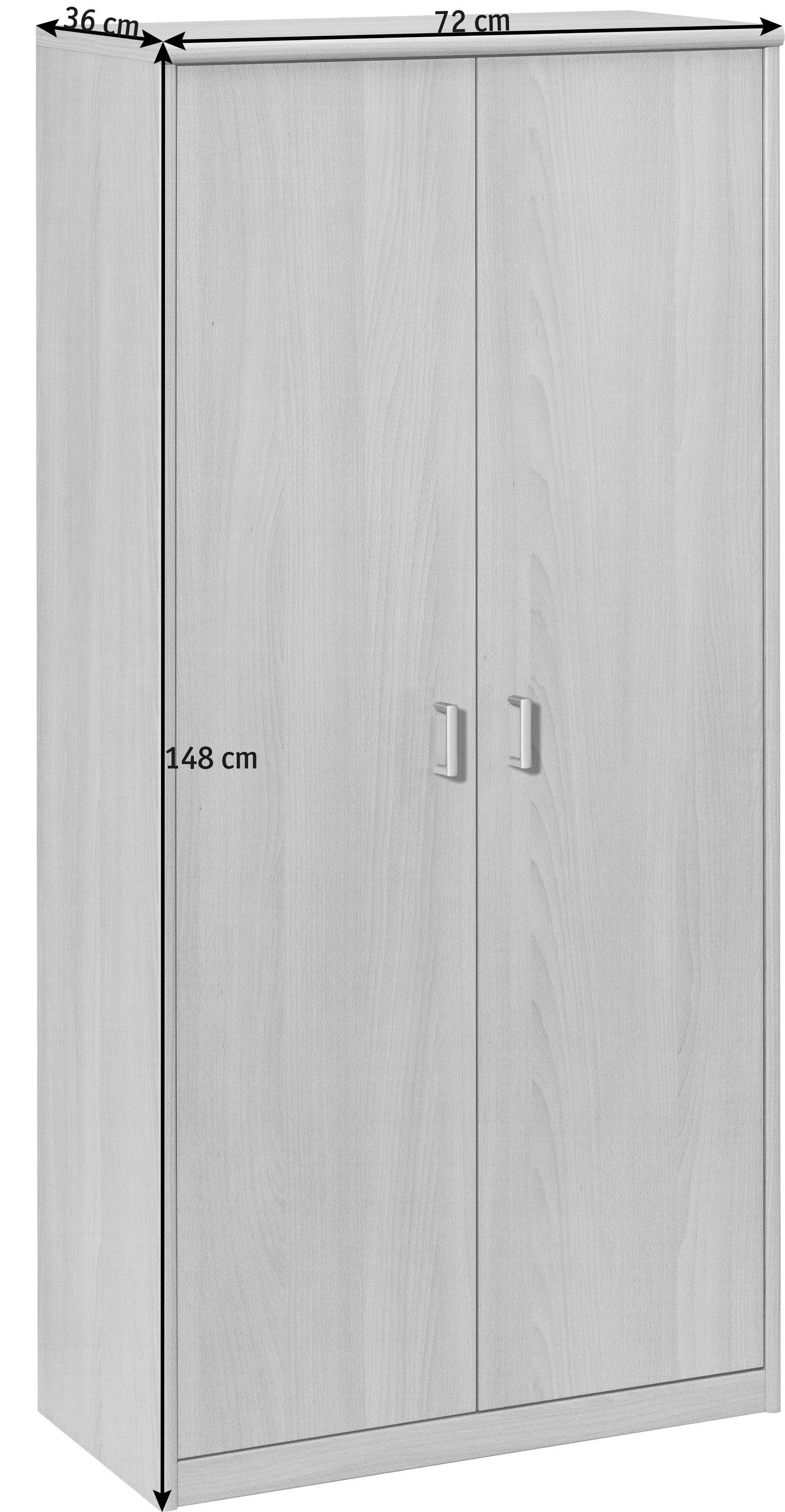 MEHRZWECKSCHRANK in Buchefarben - Silberfarben/Buchefarben, KONVENTIONELL, Holzwerkstoff/Kunststoff (72/148/36cm) - CS SCHMAL