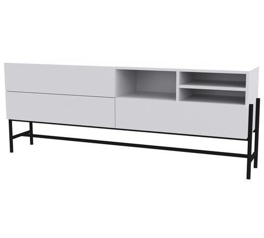 LOWBOARD 184,9/70/42,2 cm - Schwarz/Weiß, Design, Holzwerkstoff/Metall (184,9/70/42,2cm) - Lomoco