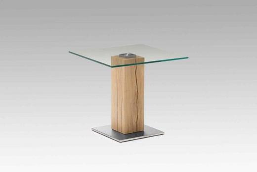 COUCHTISCH Wildeiche rechteckig Eichefarben - Eichefarben, Design, Glas/Holz (65/57/65cm) - Venjakob