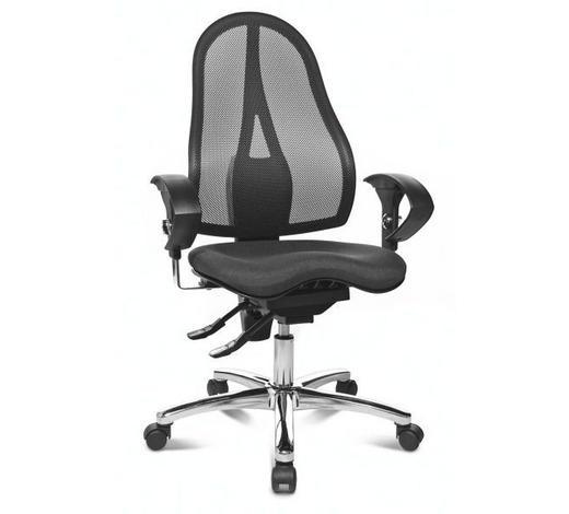 DREHSTUHL - Chromfarben/Schwarz, Design, Kunststoff/Textil (64/100-120/72cm)