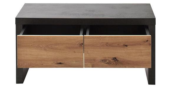 GARDEROBENBANK Balkeneiche Anthrazit, Eichefarben  - Eichefarben/Anthrazit, Design, Holz (91/45/38cm) - Voleo