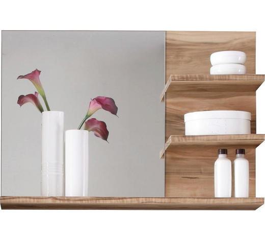 WANDSPIEGEL 72/57/20 cm - Nussbaumfarben, Design, Glas/Holzwerkstoff (72/57/20cm) - Xora