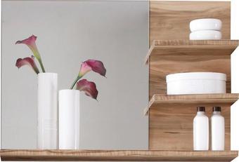 WANDSPIEGEL - Nussbaumfarben, Design, Glas (72/57/20cm) - Xora