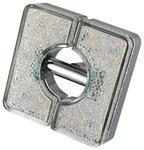 LED-SPOTKOPF - Chromfarben, KONVENTIONELL, Kunststoff/Metall (8/8/6cm) - Boxxx