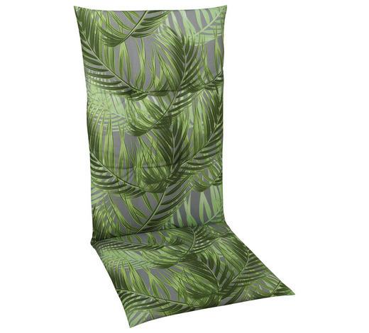 SESSELAUFLAGE Blätter  - Grau/Grün, Design, Textil (48/108/5cm)