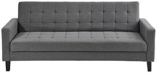 SCHLAFSOFA in Textil Dunkelgrau  - Dunkelgrau/Schwarz, Design, Holz/Textil (204/81/85cm) - Carryhome