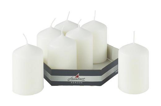 Stumpenkerze 7er-set 5,7/9 cm - Weiß, Basics (5,7/9cm) - Steinhart