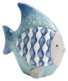 RYBA DEKORAČNÍ - modrá, Lifestyle, keramika (8/14/14cm)