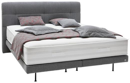 BOXSPRINGBETT 180/200 cm  INKL. Matratze - Chromfarben/Grau, Design, Textil/Metall (180/200cm) - Ambiente