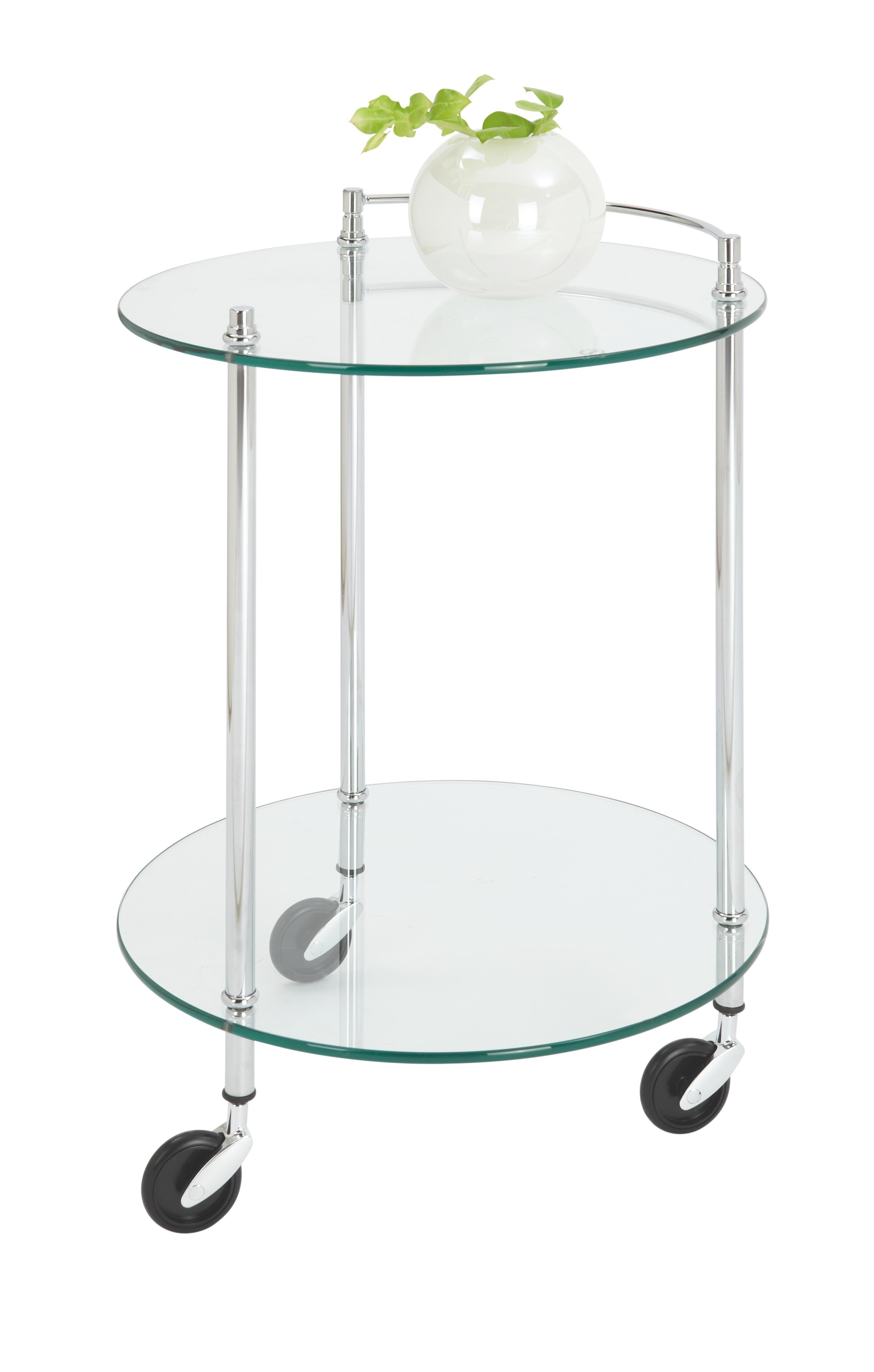 SERVÍROVACÍ VOZÍK - barvy chromu, Design, kov/umělá hmota (45/63cm)