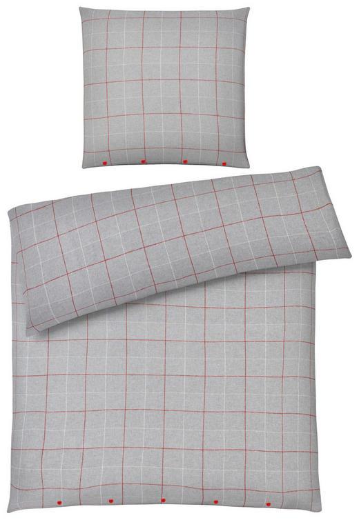 BETTWÄSCHE Biber Beige, Rot, Taupe 155/220 cm - Taupe/Beige, Basics, Textil (155/220cm) - Novel