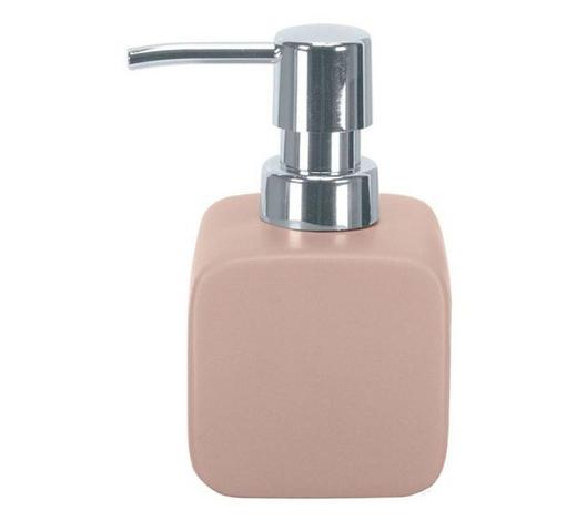 Dozirnik za milo CUBIC - roza, Basics, keramika (12,7/7,3cm) - Kleine Wolke