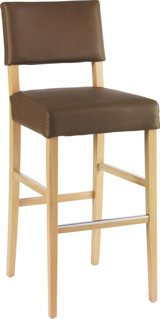 BARHOCKER in Holz, Textil Braun - Braun, Design, Holz/Textil (47/115/61cm)