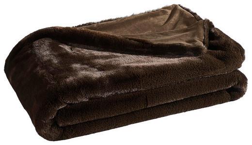 FELLDECKE 150/200 cm Braun - Braun, KONVENTIONELL, Textil (150/200cm) - Ambiente