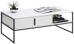 COUCHTISCH rechteckig Weiß  - Anthrazit/Weiß, Design, Metall (120/60/43cm) - Hom`in