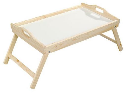 SERVERINGSBRICKA - vit/brun, Basics, trä/plast (50/30,5/23cm) - HOMEWARE