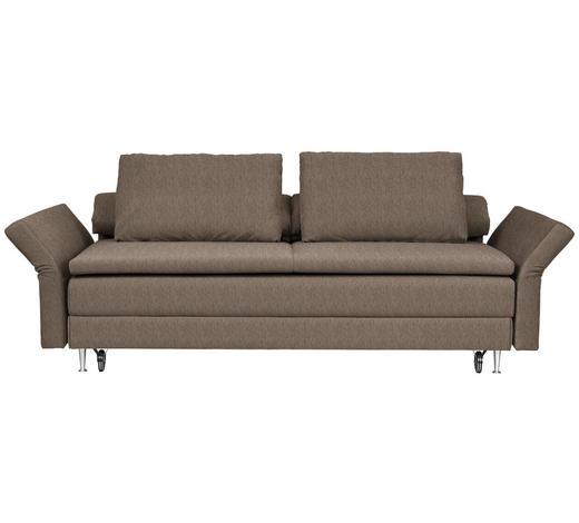 SCHLAFSOFA in Textil Braun  - Braun, MODERN, Textil (220/100/98cm) - Joka