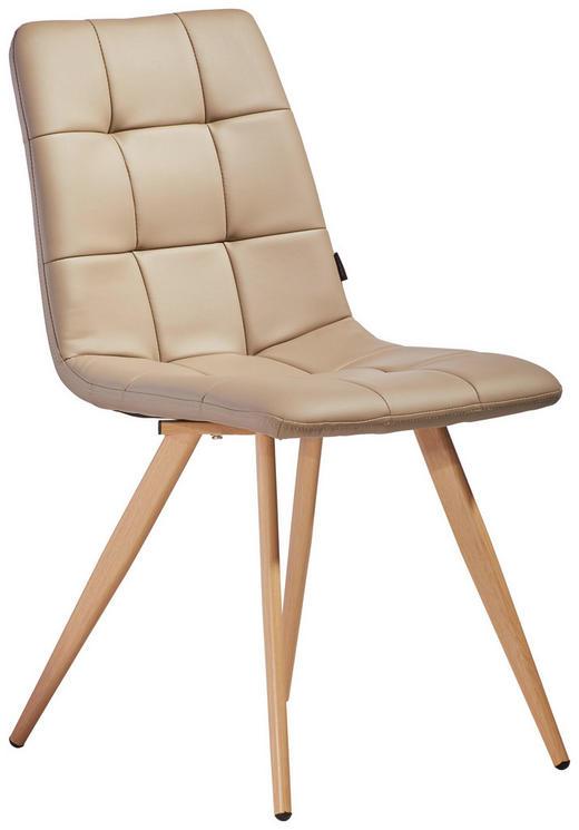 STUHL in Metall, Textil Braun, Grau - Braun/Grau, Design, Textil/Metall (46/86/58,5cm) - Xora