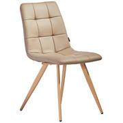 STUHL Lederlook Hellbraun - Hellbraun, Design, Textil/Metall (46/86/58,5cm) - XORA