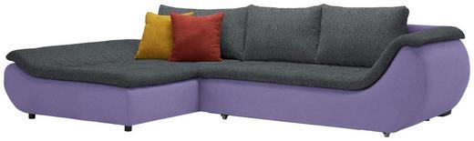 WOHNLANDSCHAFT in Textil Anthrazit, Violett - Anthrazit/Violett, Design, Kunststoff/Textil (185/310/cm) - Carryhome