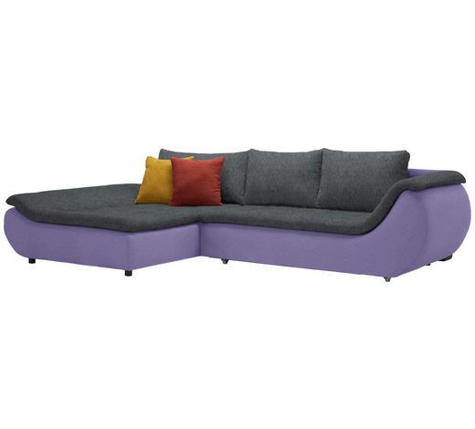 WOHNLANDSCHAFT in Textil Anthrazit, Violett  - Anthrazit/Violett, Design, Kunststoff/Textil (185/310cm) - Carryhome