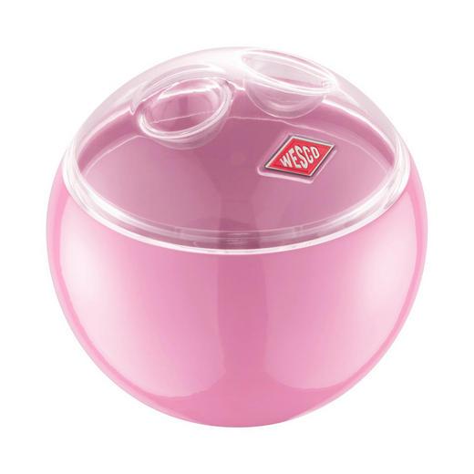 VORRATSDOSE - Transparent/Rosa, Basics, Kunststoff/Metall (12,5/11,9cm) - Wesco