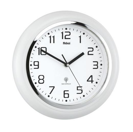 WANDUHR 29 cm - Weiß, KONVENTIONELL, Kunststoff (29cm)