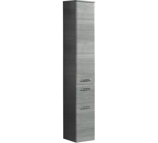 HOCHSCHRANK Graphitfarben  - Chromfarben/Graphitfarben, Design, Glas/Holzwerkstoff (30/186/33cm) - Xora