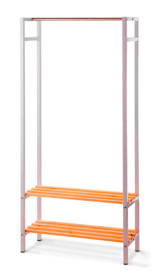 GARDEROBENSTÄNDER Chromfarben, Kieferfarben, Weiß - Chromfarben/Weiß, MODERN, Holz/Metall (76/161/30cm)