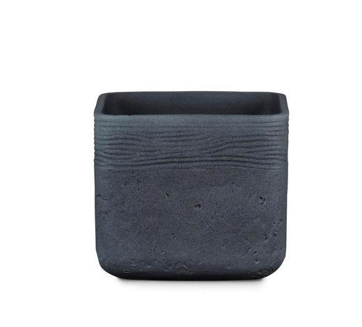 ÜBERTOPF - Anthrazit, KONVENTIONELL, Keramik (16,5/16,5/14cm)