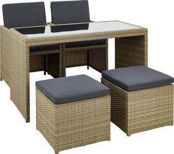 ZAHRADNÍ SADA - šedá/černá, Design, kov/textilie (120/72/60cm) - Ambia Garden