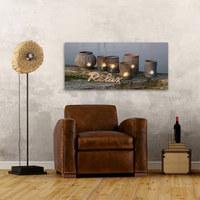 Keilrahmenbild mit LEDs  Multicolor - Multicolor, Trend, Holz/Papier (55/115cm) - Eurographics