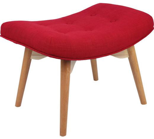HOCKER Rot - Rot/Naturfarben, Design, Holz/Textil (65/43/42cm) - Carryhome