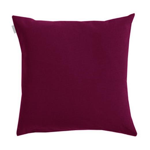 KISSENHÜLLE Aubergine 50/50 cm - Aubergine, Basics, Textil (50/50cm) - LINUM