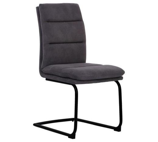 POHUPOVACÍ ŽIDLE, šedá - šedá/černá, Design, kov/textil (46/95/62,5cm) - Cantus