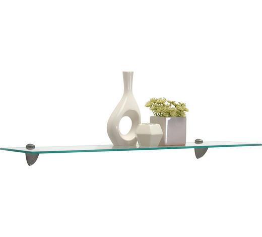 GLASABLAGE in Klar, Edelstahlfarben - Klar/Edelstahlfarben, KONVENTIONELL, Glas/Metall (78/0,6/18cm) - Boxxx