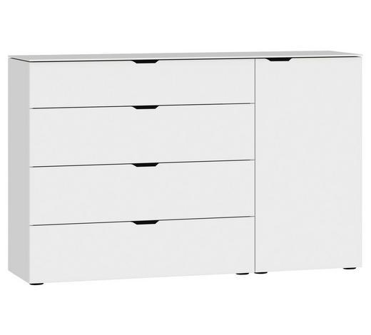 SIDEBOARD 135/87/43 cm  - Schwarz/Weiß, Design, Glas/Holzwerkstoff (135/87/43cm) - Jutzler