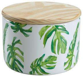 FÖRVARINGSBURK - grön/naturfärgad, Trend, trä/keramik (12/9cm) - Ambia Home