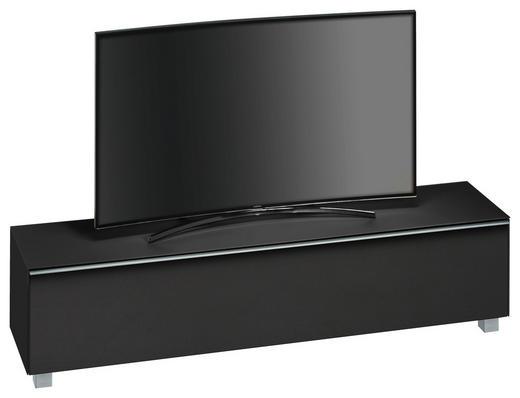 TV-ELEMENT Schwarz - Schwarz/Alufarben, KONVENTIONELL, Glas/Kunststoff (180/43,3/42cm)